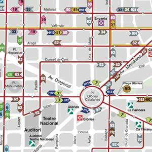 Mapa Transporte Publico Barcelona.Plano De Autobuses Urbanos De Barcelona Tmb 2019