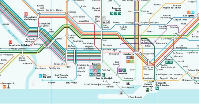 Plano de Ferrocarriles de Cataluña (FGC)