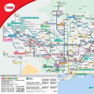 Mapa Transporte Publico Barcelona.Plano De Metro De Barcelona 2019