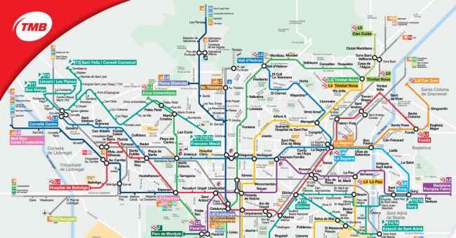 Plano de Metro de Barcelona