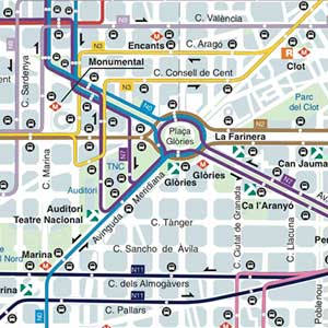 Mapa Transporte Publico Barcelona.Plano De Autobuses Nocturnos De Barcelona Nitbus 2019