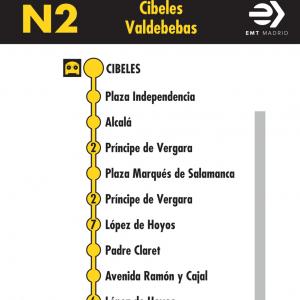 Horarios De Linea N2 De Emt Plaza De Cibeles Hortaleza Buho