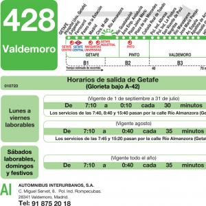 Horario ida de Línea 428