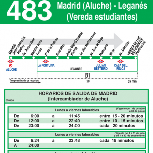 Horario ida de Línea 483