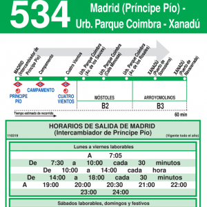 Horario ida de Línea 534