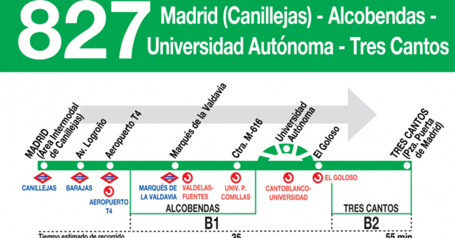 Horarios de autob s 827 madrid canillejas alcobendas for Horario renfe alcobendas