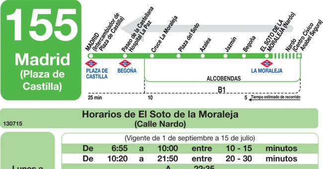 Primero de Octubre Horario-vuelta-155-madrid-alcobendas-autobuses-interurbanos-web