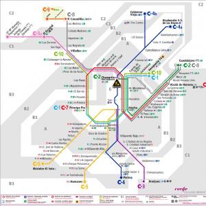 Las Rozas Madrid Mapa.Plano De Renfe Cercanias Madrid 2019