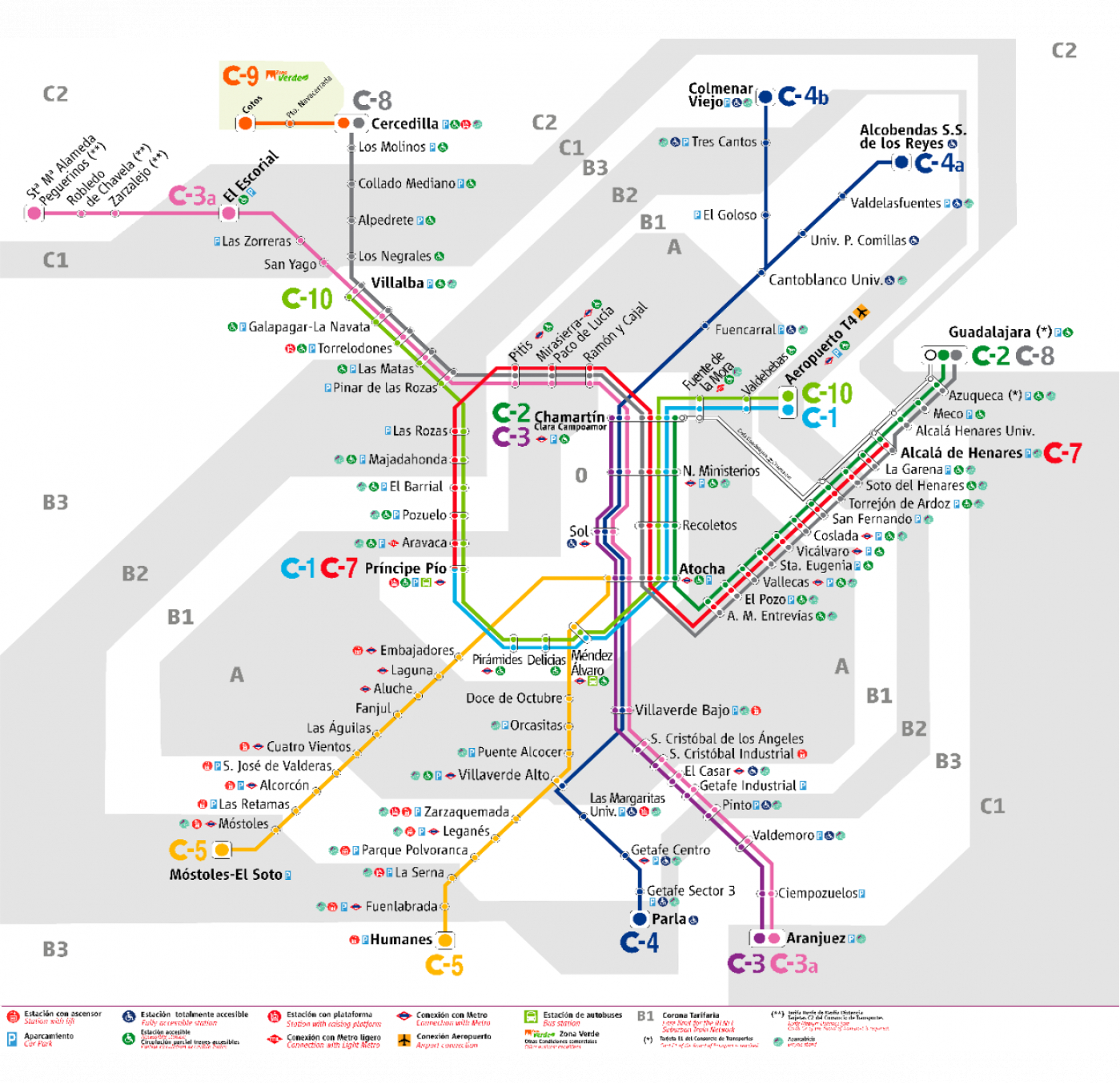 Plano De Renfe Cercanias Madrid 2020