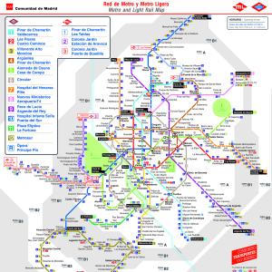 Mapa Metro De Madrid.Plano De Metro De Madrid 2019