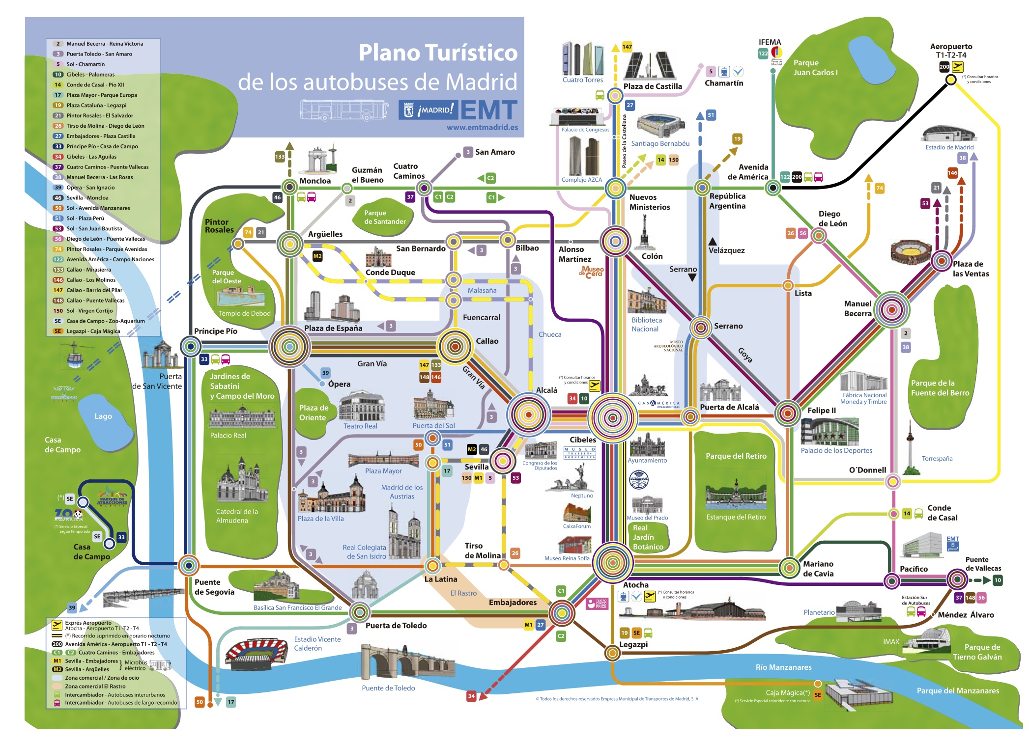 Madrid tourist map – Madrid Tourist Attractions Map