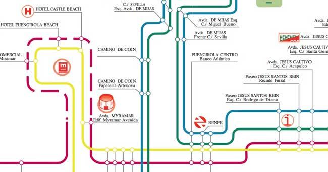 Plano de Autobuses urbanos de Fuengirola
