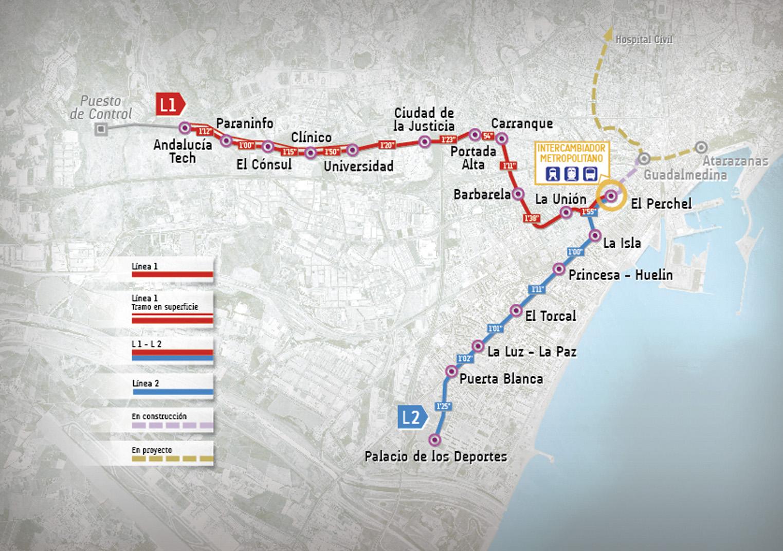Plano de Metro Málaga