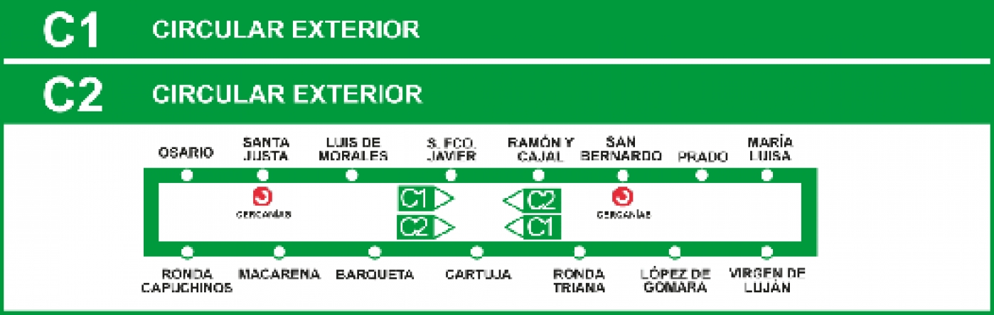 seville bus map with Linea C1 on Monuments Madrid also Linea C5 further Ikea Valencia likewise 11 likewise Car.