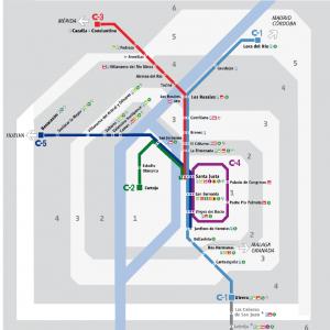 Plano De Renfe Cercanias Sevilla 2020