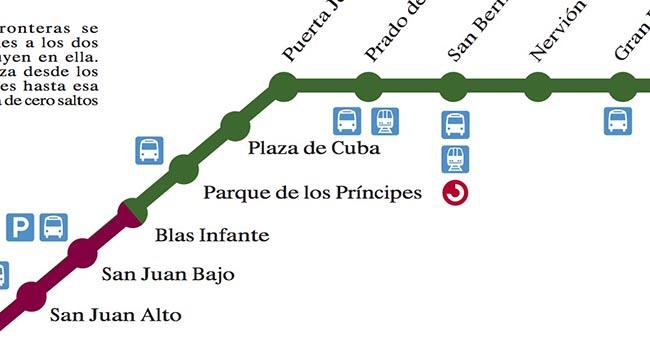 Plano de Metro de Sevilla