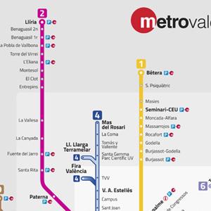Mapa Metro Valencia 2015.Plano De Metro De Valencia 2019